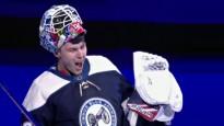 """Merzļikins atvaira 41 metienu NHL, trešā """"sausā"""" spēle četros mačos"""