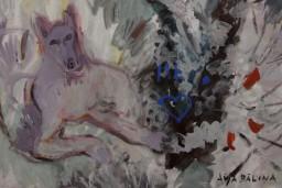 """Mākslas Bankā skatāma Aijas Bāliņas gleznas un Diānas Verneras keramika izstādē """"Divas stihijas"""""""
