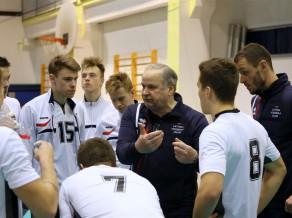 U21 volejbola izlase zaudē beļģiem, taču turpinās cīņu par vietu PČ