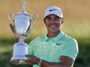 """Kepka atkārto Makilroja rekordu un uzvar """"US Open"""""""