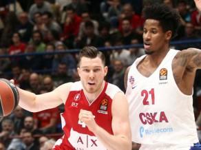 Bertānam 15 punkti Milānas sakāvē pret CSKA