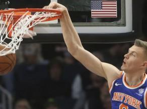 """Porziņģa """"double-double"""" un Hārdeveja atgriešanās neglābj """"Knicks"""" pret Minesotu"""