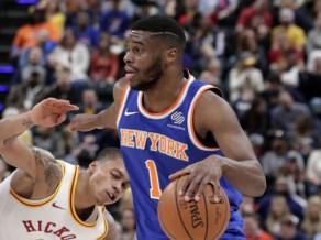 "Mudiejs ""Knicks"" debitē ar ""double-double"", <i>jaunā</i> Klīvlenda sagrauj Bostonu"