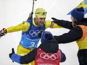 Biatlons Phjončhanā beidzas ar vēsturisku Zviedrijas uzvaru