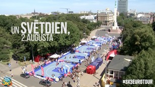 Video: Ceturtais Latvijas čempionāts 3x3 basketbolā pie Brīvības pieminekļa jau pēc 2 divām dienām!