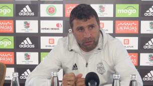 """Video: Dobrecovs: """"Pat Liepājā mums ir jāsaprot, pret ko mēs spēlējam"""""""
