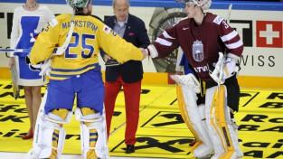 Hokeja izlase tikai pagarinājumā piekāpjas Zviedrijai