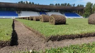 Piecos stadionos pabeigta modernu laistīšanas sistēmu ierīkošana