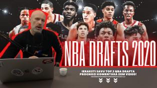 Video: Bukmeikers Arvīds Rasa analizē 2020. gada NBA drafta potenciālu