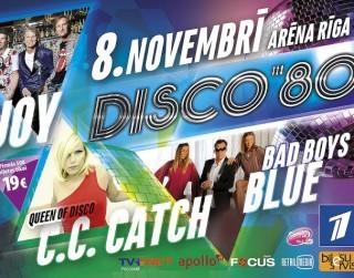 Eiropas deju mūzikas fenomens – Disco 80's 8.novembrī Rīgā!