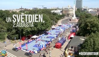 Video: Ceturtais Latvijas čempionāts 3x3 basketbolā pie Brīvības pieminekļa jau 2 divām dienām!