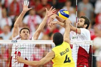 Polija piecu setu trillerī pārtrauc čempiones Brazīlijas 13 uzvaru sēriju