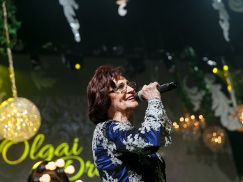 Foto: Olgas Dreģes dzimšanas dienas koncerts fotomirkļos