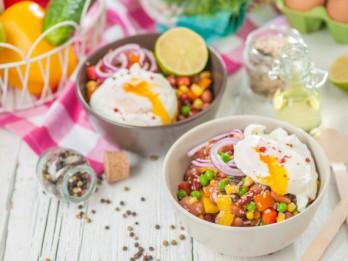 Pākšaugu salāti ar olu- īsts enerģijas lādiņš