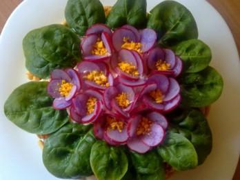 """Salāti """"ziedošā vijolīte"""""""