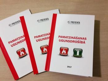 """Lai veicinātu jauniešu zināšanas par ugunsdrošību, izdota grāmata """"Pamatzināšanas ugunsdrošībā"""""""