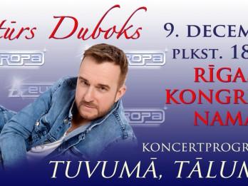 """Artūrs Duboks un """"A-Europa"""" koncertā """"Tuvumā, tālumā…"""" Rīgas Kongresu namā."""