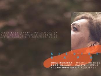 """Video: Prezentēs Ingas Bērziņas albumu """"SIEVIETES SAPŅI"""""""