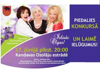 """Piedalies un laimē ielūgumus uz """"Ielūdz Olgas"""" koncertu"""