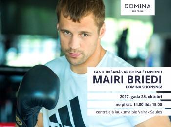 Mairis Briedis ielūdz fanus uz tikšanos Domina Shopping 28. oktobrī