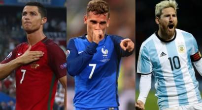 Ronaldu, Grīzmans un Mesi – FIFA labākā spēlētāja balvas kandidāti