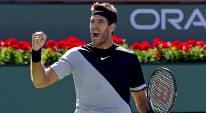 Čoričs divreiz izlaiž pārsvaru pret Federeru, Del Potro svin 400. uzvaru