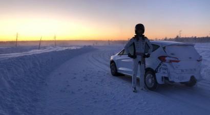 Rallija pilots Sesks jaunajai WRC sezonai trenējas Somijas ziemeļos