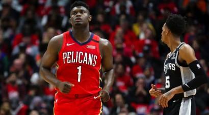 """Viljamsonam ilgi gaidītajā NBA debijā 22 punkti un zaudējums """"Spurs"""""""
