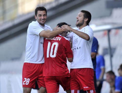 ''Skonto'' spēlē teicami, gūst skaistus vārtus un pieveic ''Slovan''