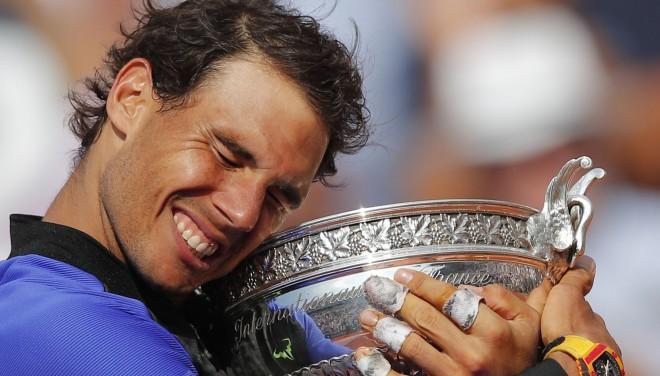 """Nadals sagrauj arī Vavrinku un 10. reizi uzvar """"French Open"""""""