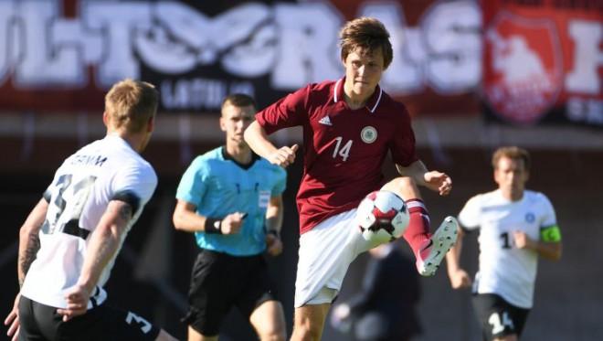 Jaunie laiki Latvijas futbolā sākas ar uzvaru pār Igauniju