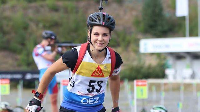 Pūce lieliski veic pirmo posmu, Latvijas juniori priekšpēdējie PČ vasaras biatlonā stafetē