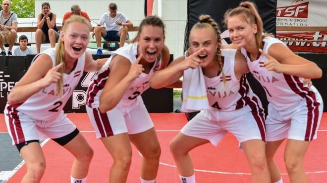 Latvietes iemet vien 7 punktus un nepārvar U18 Eiropas kausa 3x3 basketbolā 1/4 finālu
