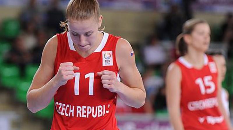 Čehijas izlases spēlētāja Elhotova Foto: fibaeurope.com