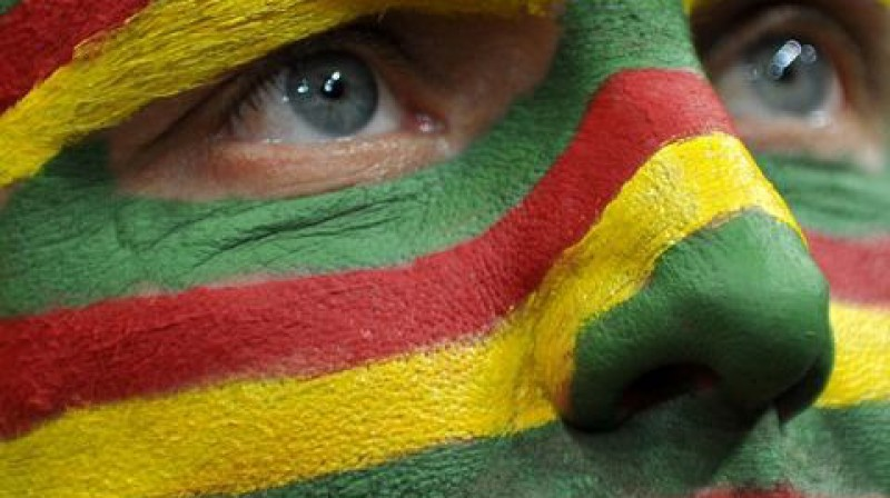 Lietuvas atbalstītājs Foto: Scanpix