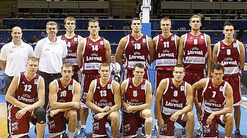 Latvijas vīriešu basketbola valstsvienība 2011 Foto: FIBA Europe