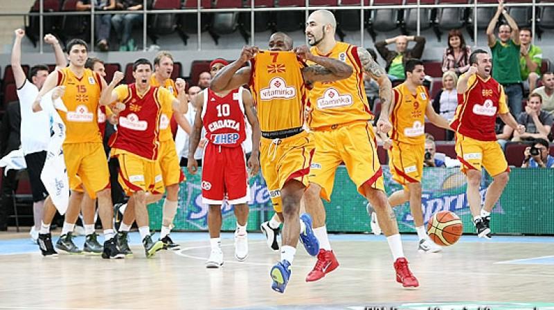 Bo Makkalebs un Maķedonijas valstsvienība Foto: www.fibaeurope.com Castoria