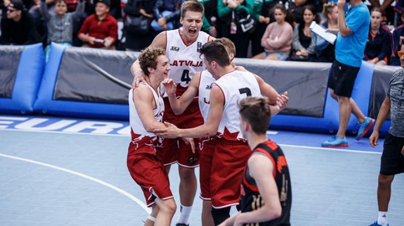 Latvijas vīriešu U18 izlases basketbolisti. Foto: FIBA.com