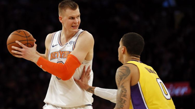 Kristaps Porziņģis un Kails Kuzma