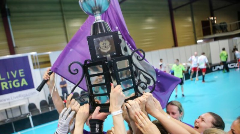 """Smago Unihoc Riga Cup kausu savā īpašumā centīsies nosargāt """"NND Rīga"""" meitenes Foto: Unihoc Riga Cup"""