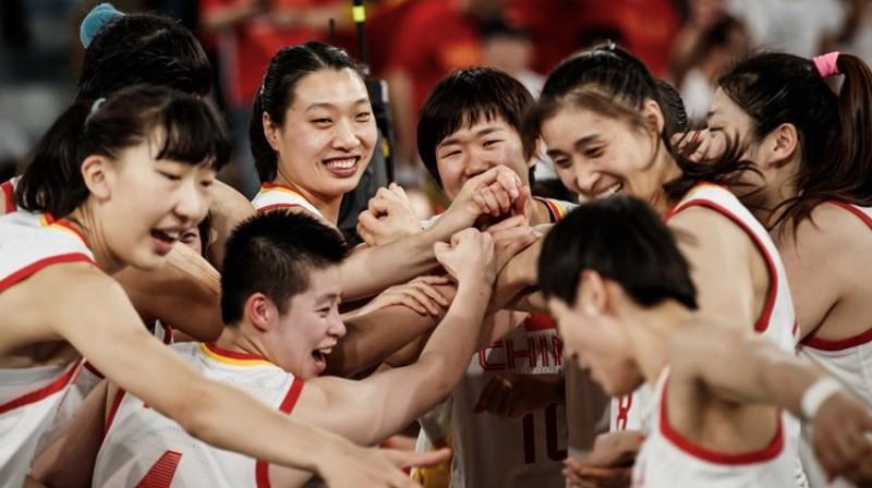 Ķīnas basketbolistes - uzvara pār Japānu un vieta Pasaules kausa ceturtdaļfinālā. Foto: FIBA