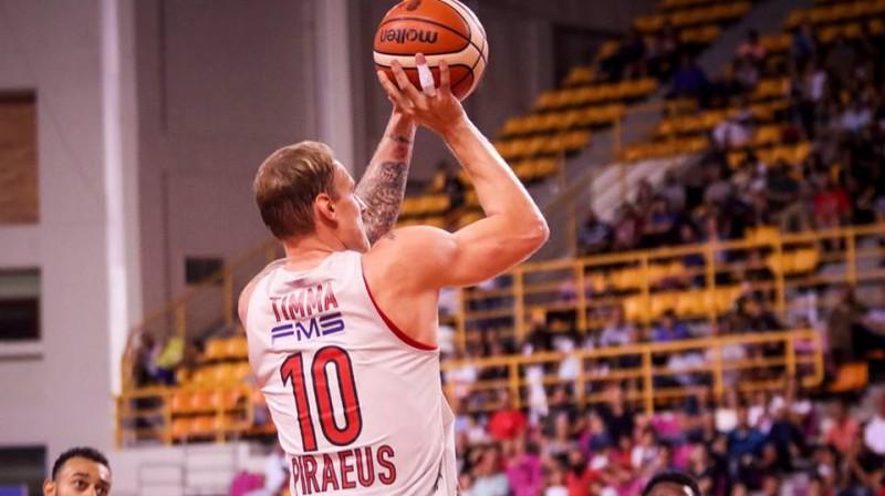 Jānis Timma, Foto: Olympiacos BC