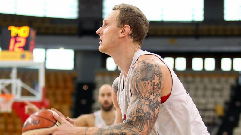 Jānis Timma. Foto: Olympiacos BC