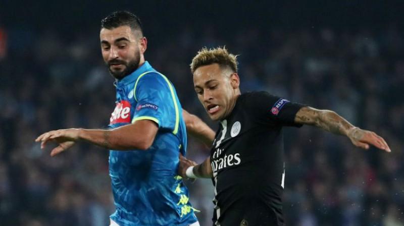 "Neimārs pret ""Napoli"". Foto: Reuters/Scanpix"