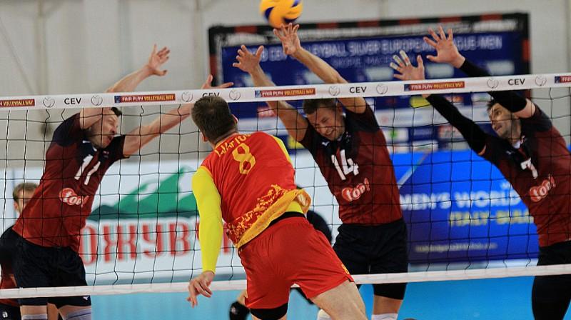 2018. gadā Latvijas izlase tika līdz 3. vietai Eiropas Sudraba līgā, trīsreiz uzvarot Maķedoniju Foto: cev.lu
