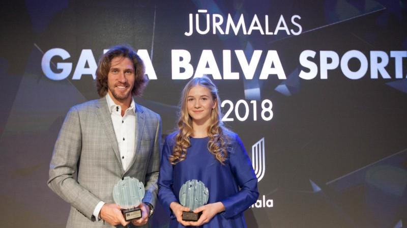 Aleksandrs Samoilovs un Kristīne Blaževiča. Foto: jurmala.lv