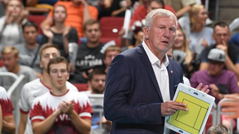 Latvijas izlases galvenais treneris Avo Kēls. Foto: Romāns Kokšarovs/F64