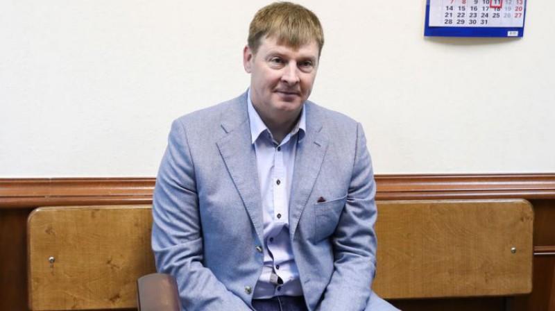 Aleksandrs Zubkovs Maskavas tiesā. Foto: Stanislav Krasilnikov/TASS/Scanpix