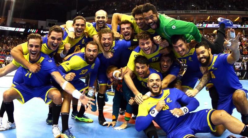 Brazīlijas vīriešu handbola izlase - pirmo reizi starp 12 labākajām komandām pasaules čempionātā.