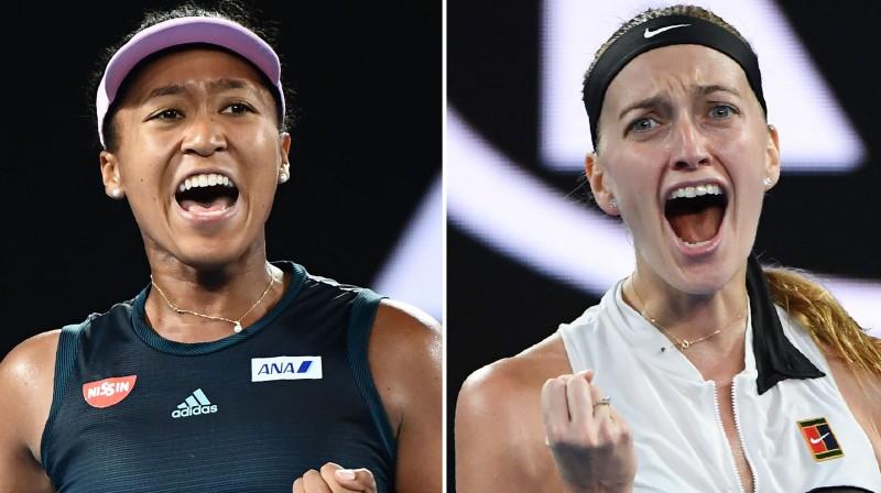 Naomi Osaka un Petra Kvitova. Foto: AFP/Scanpix
